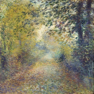 Ormanda, Pierre August Renoir in The Woods, Klasik Sanat Kanvas Tablo