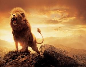 Ormanın Kralı Aslan Hayvanlar Kanvas Tablo