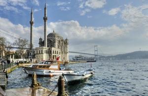 Ortaköy Camii Boğaz Manzarası 2 Dünyaca Ünlü Şehirler Kanvas Tablo