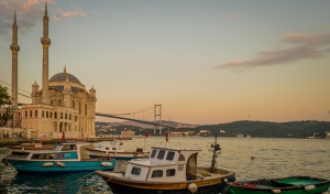 Ortaköy Camii Boğaz Manzarası 3 Dünyaca Ünlü Şehirler Kanvas Tablo