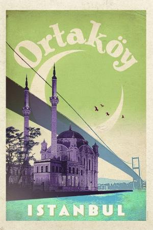 Ortaköy Camii Şehirler Kanvas Tablo