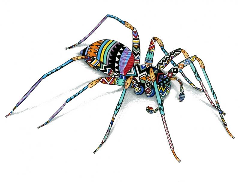 Örümcek İllustrasyon Çizim Popüler Kültür Kanvas Tablo