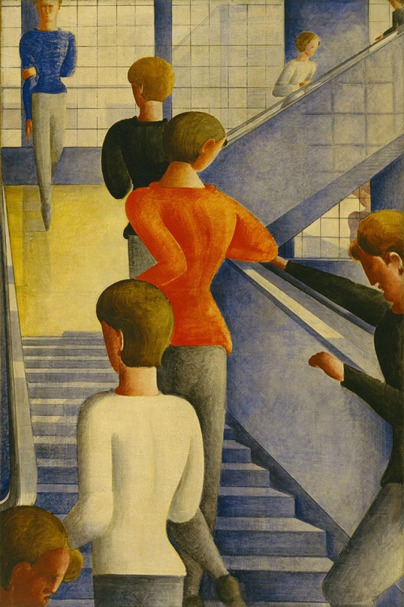 Oskar Schlemmer Merdivenler Yagli Boya Klasik Sanat Kanvas Tablo