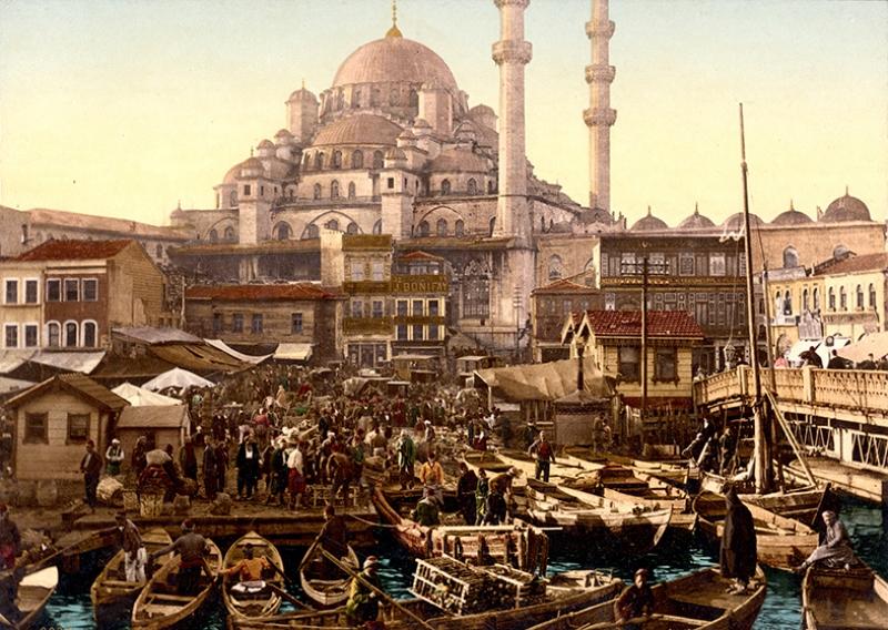 Osmanlı Dönemi Eminönü Osmanlı Tarihi Kanvas Tablo
