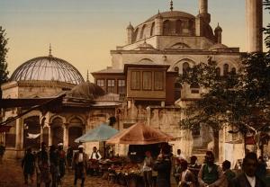 Osmanlı Dönemi İstanbul Sokakları Osmanlı Tarihi Kanvas Tablo