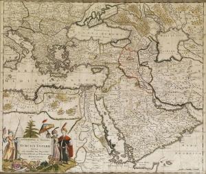 Osmanlı Dönemi Ortadoğu Haritası Osmanlı Tarihi Kanvas Tablo