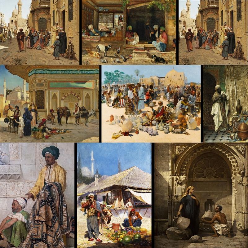 Osmanlı Günlük Yaşam Kanvas Tablo