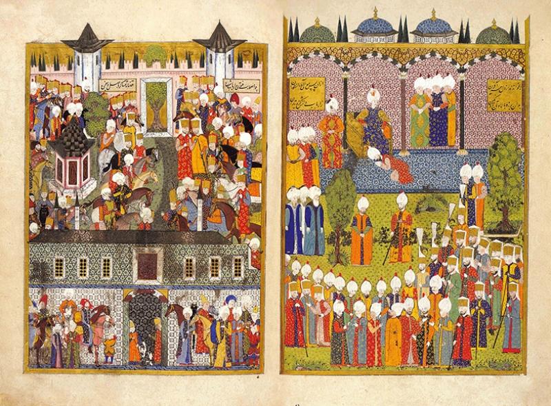 Osmanlı Minyatür Sanatı 3 Osmanlı Tarihi Kanvas Tablo