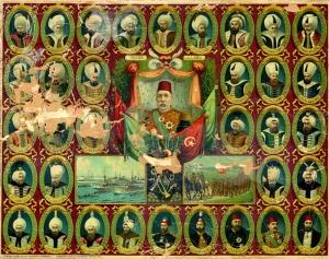 Osmanlı Sultan Hanedanlığı Osmanlı Tarihi Kanvas Tablo