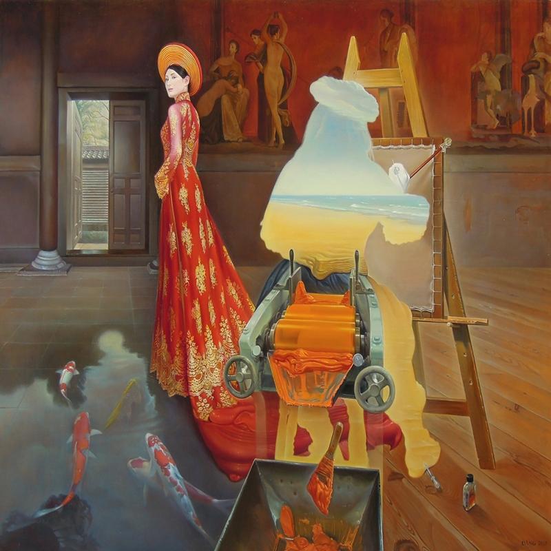 Öteki Boyut Sürrealizm Modern Sanat Kanvas Tablo