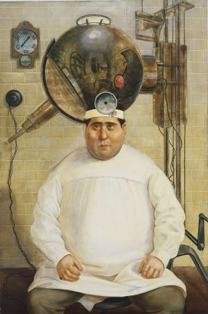 Otto Dix Doctor Mayer Hermann Yagli Boya Klasik Sanat Kanvas Tablo