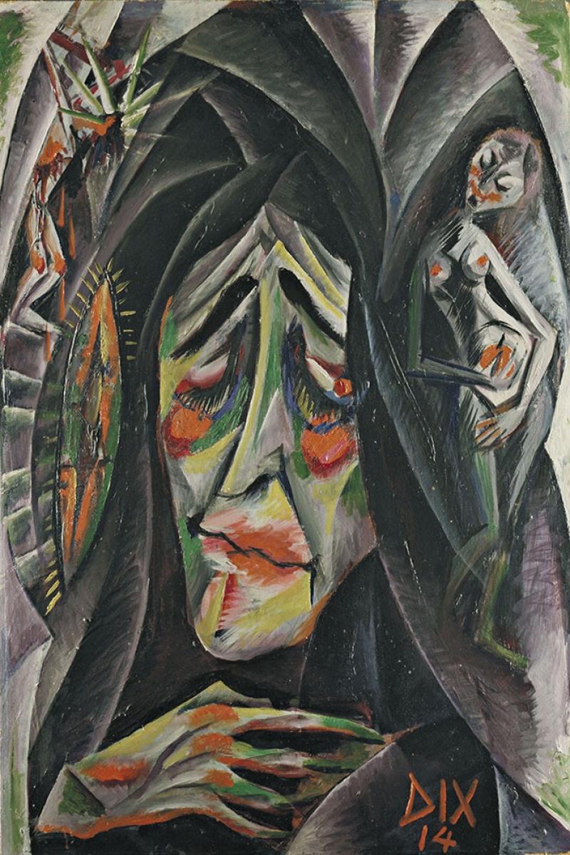 Otto Dix Rahibe Bagli Boya Klasik Sanat Kanvas Tablo