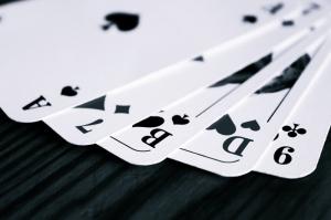 Oyun Kartları Siyah Beyaz Fotoğraf Kanvas Tablo