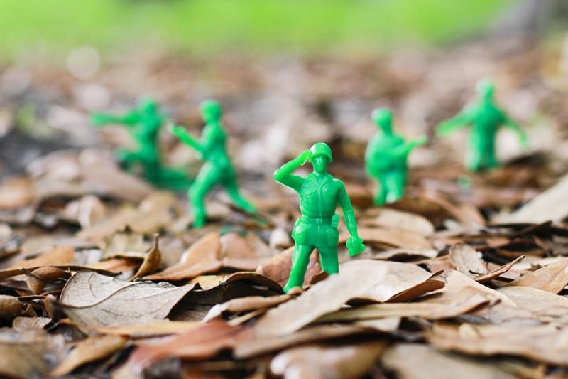 Oyuncak Askerler Fotoğraf Kanvas Tablo