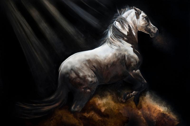 Özgür, Çılgın, Vahşi Atlar-10 Kanvas Tablo