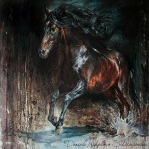 Özgür, Çılgın, Vahşi Atlar-11 Kanvas Tablo