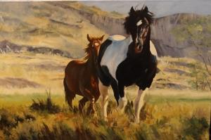 Özgür, Çılgın, Vahşi Atlar-41 Kanvas Tablo