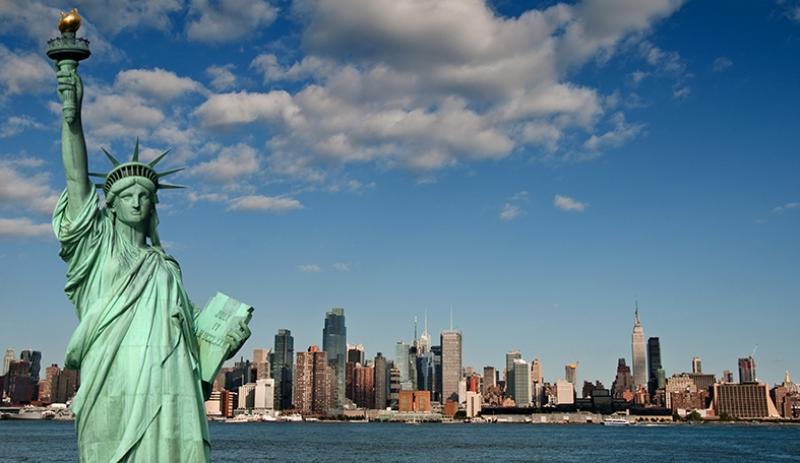 Özgürlük Heykeli 2 Dünyaca Ünlü Şehirler Kanvas Tablo