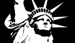 Özgürlük Heykeli Siyah Beyaz Popüler Kültür Kanvas Tablo
