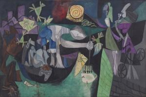 Pablo Picasso Antibesde Aksam Balik Avi Yagli Boya Klasik Sanat Kanvas Tablo