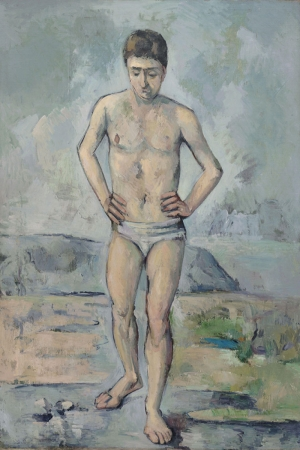 Paul Cézanne Banyo Yagli Boya Klasik Sanat Kanvas Tablo