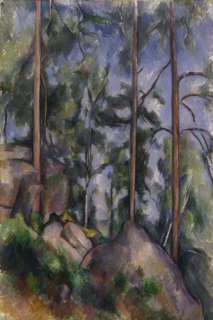 Paul Cézanne Cam ve Kayaliklar Yagli Boya Klasik Sanat Kanvas Tablo