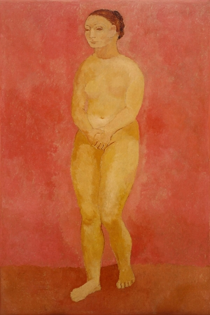 Pablo Picasso Elleriyle Ortunen Ciplak Kadin Yagli Boya Klasik Sanat Kanvas Tablo