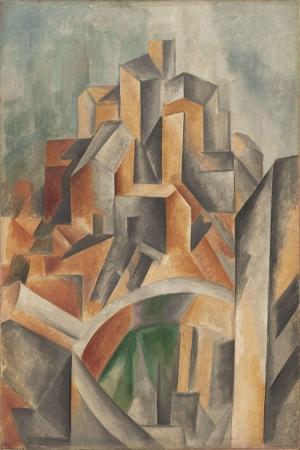 Pablo Picasso Horta de Ebronun Rezervuari Yagli Boya Klasik Sanat Kanvas Tablo