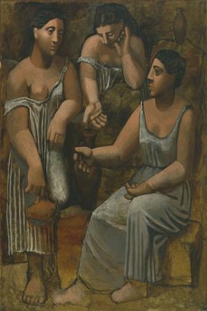 Pablo Picasso Ilk Baharda Uc Kadin Yagli Boya Klasik Sanat Kanvas Tablo