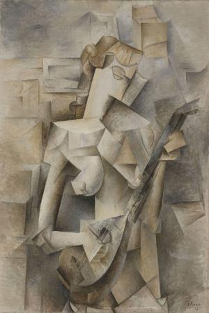 Pablo Picasso Mandolinli Kiz Yagli Boya Klasik Sanat Kanvas Tablo