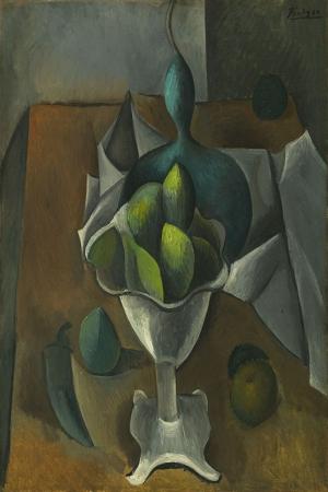 Pablo Picasso Meyve Tabagi Boya Klasik Sanat Kanvas Tablo