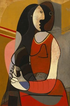Pablo Picasso Oturan Kadin Yagli Boya Klasik Sanat Kanvas Tablo
