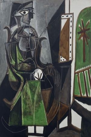 Pablo Picasso Pencere Kenarindaki Kadin Yagli Boya Klasik Sanat Kanvas Tablo