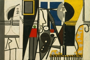 Pablo Picasso Ressam ve Model Yagli Boya Klasik Sanat Kanvas Tablo