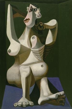 Pablo Picasso Sacini Tarayan Kadin Yagli Boya Klasik Sanat Kanvas Tablo