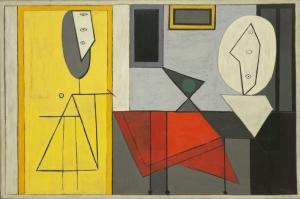 Pablo Picasso Studyo Yagli Boya Klasik Sanat Kanvas Tablo