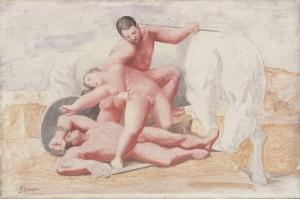 Pablo Picasso The Rape Yagli Boya Klasik Sanat Kanvas Tablo