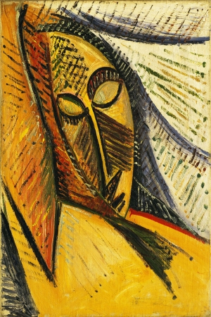 Pablo Picasso Uyuyan Kadin Kafasi Yagli Boya Klasik Sanat Kanvas Tablo