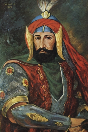 Padişah 4. Murat Osmanlı Tarihi Kanvas Tablo