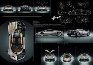 Pagani Huayra Blueprint Spor Otomobil Kanvas Tablo