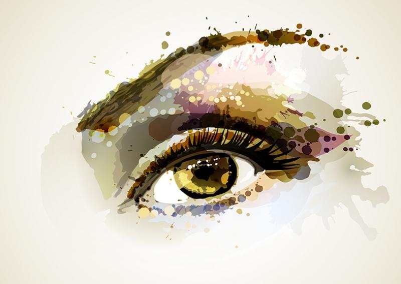 Painting Eye Water Color Style Yağlı Boya Sanat Kanvas Tablo