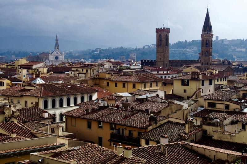 Palazzo Vecchi Floransa Tarihi Yerler Dünyaca Ünlü Şehirler Kanvas Tablo