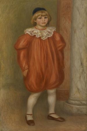 Palyaço Kıyafeti Giymiş Claude Renoir, Pierre Augus Renoir Claude Renoir in Clown Costume Klasik Sanat Kanvas Tablo