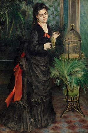 Papağanlı Kadın, Pierre August Renoir Klasik Sanat Kanvas Tablo