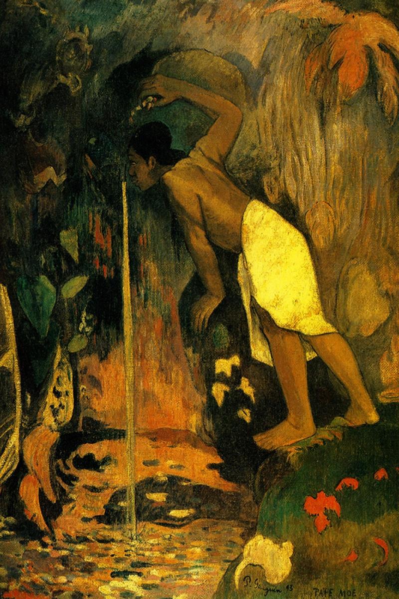 Pape Moe Paul Gauguin-5 Reproduksiyon Kanvas Tablo