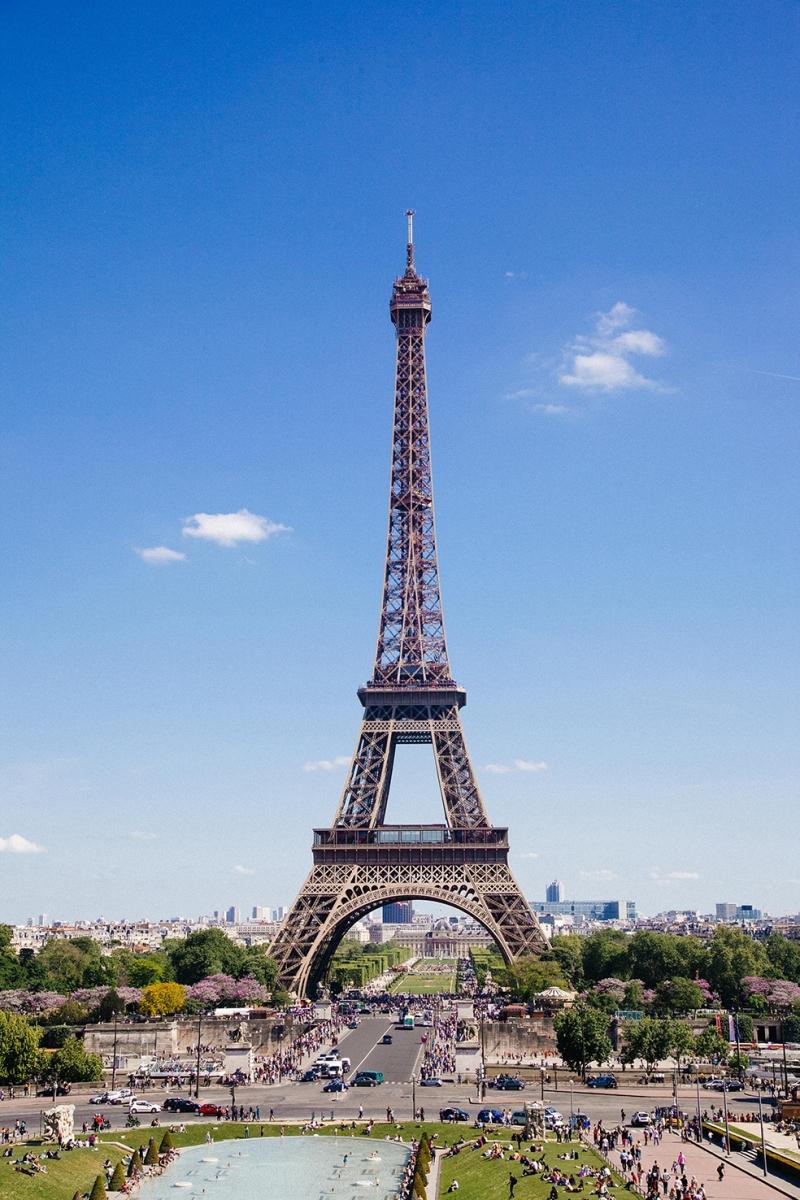 Paris Eiffel Kulesi Dünyaca Ünlü Şehirler Kanvas Tablo