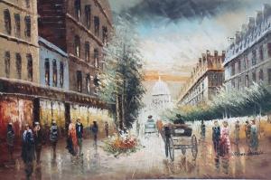 Paris Eyfel Kulesi 1 Şehir Manzaraları Yağlı Boya Canvas Tablo