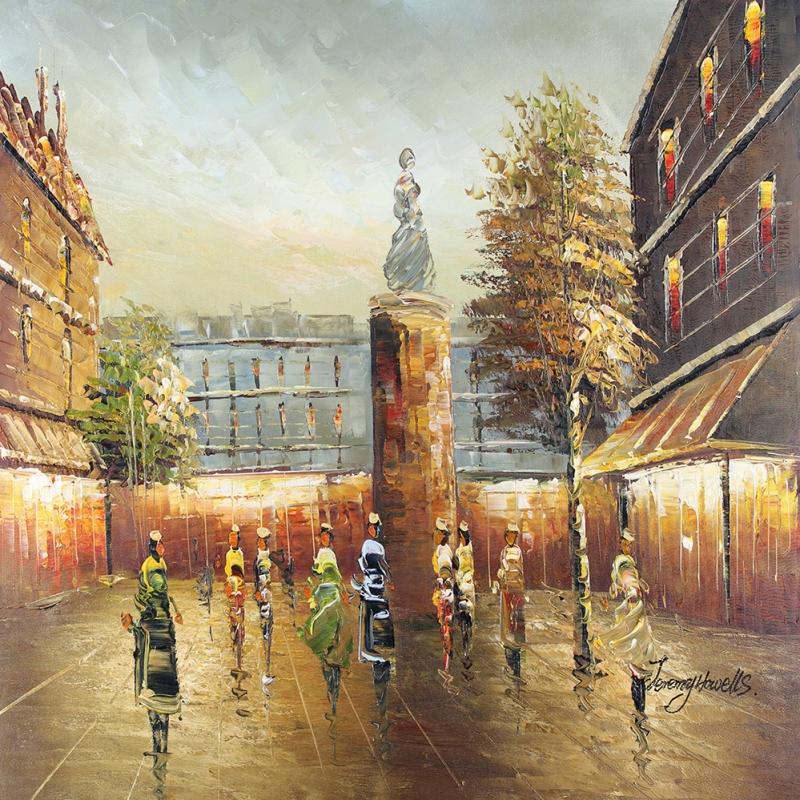 Paris Eyfel Kulesi 12 Şehir Manzaraları Dekoratif Canvas Tablo