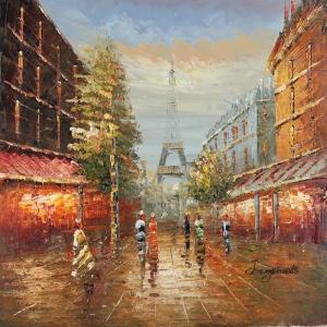 Paris Eyfel Kulesi 13, Şehir Manzaraları Dekoratif Canvas Tablo