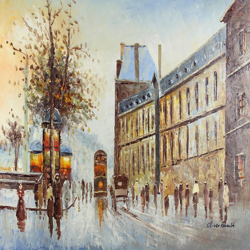 Paris Eyfel Kulesi 14, Şehir Manzaraları Dekoratif Canvas Tablo